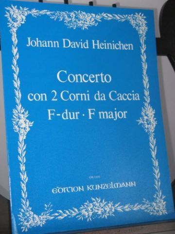 Heinichen J D - Concerto in F for 2 Horns arr Mariassy I
